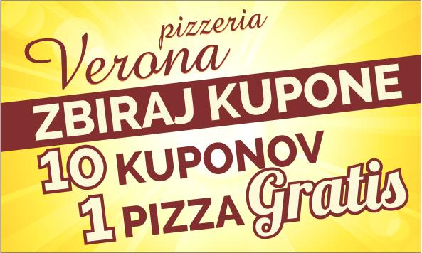 Picerija Verona - zbiraj kupone